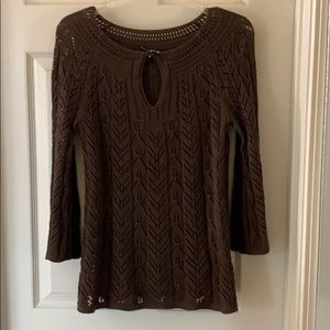 Talbots Lacey brown tunic top